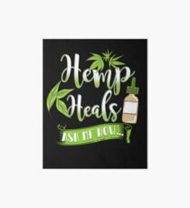 Hemp Heals CBD Oil Design  Art Board