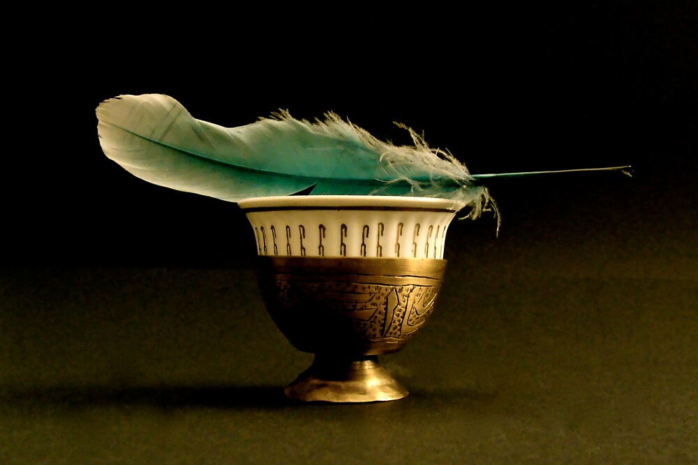 coffee with a feather by anisja
