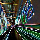Neon Escalator by Glen Allen