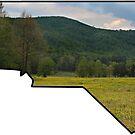 NC silhouette, carolina mountains, boone nc, asheville nc, north carolina, nc home, home nc, mountain print, nc mountains, nc mountain print by bwatkinsphoto