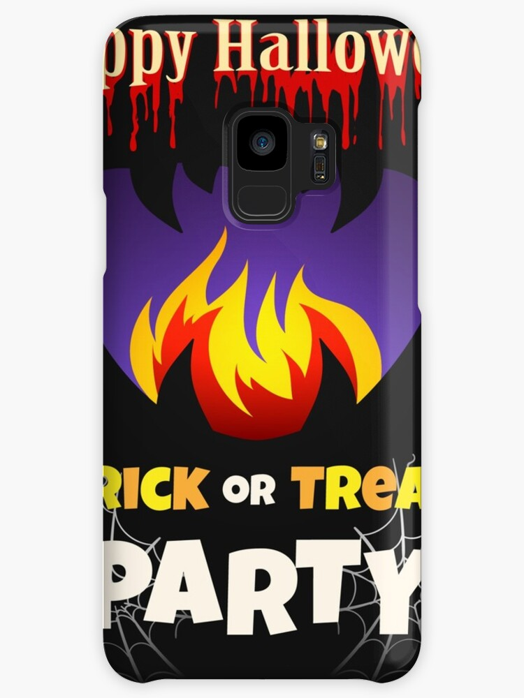 halloween party poster design template cases skins for samsung