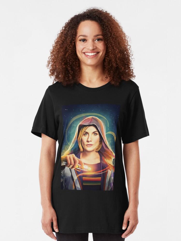 Alternative Ansicht von Das Universum ruft ... Slim Fit T-Shirt