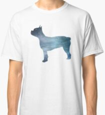 Boston terrier silhouette Classic T-Shirt