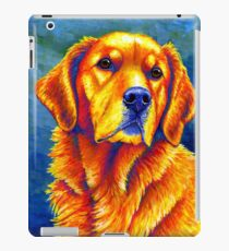 Colorful Golden Retriever Dog Portrait iPad Case/Skin