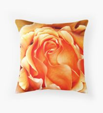 Orange Frilly Throw Pillow