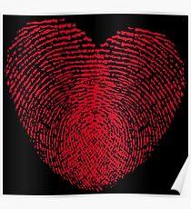 Fingerprint Heart Poster