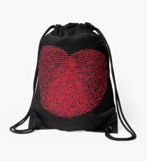 Fingerprint Heart Drawstring Bag