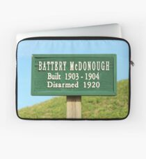 Fort Caswell Sign Laptop Sleeve