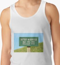 Fort Caswell Sign Tank Top