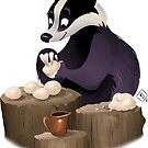 Baking badger by studiokayleigh