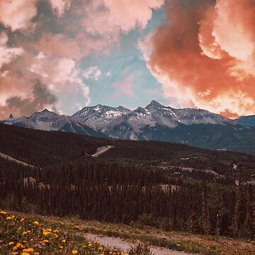 Pink Clouds and Mountains by ArielClark93