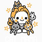 Proud Cat Mama (White Lettering) by knitetgantt