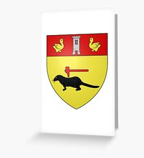 French France Coat of Arms 14964 Blason ville fr Saint Cirgues la Loutre Corrèze Greeting Card