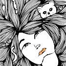 The Crazy Cat Lady | Line Art by mydoodlesateme