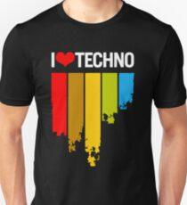 59c7f9ddc139 I Love Techno Slim Fit T-Shirt