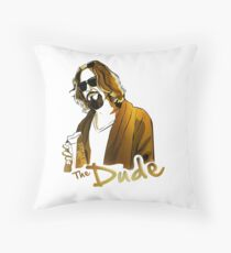 the dude, exclusive gold edition Throw Pillow