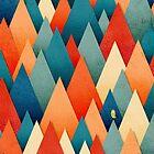 «Profundamente en la textura de bosque de otoño I» de OwlyChic
