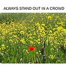 Always stand out in a crowd by Rodney Bantleman