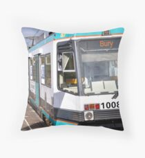 Bury Tram Throw Pillow