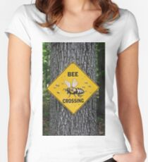 Bee Crossing Fitted Scoop T-Shirt