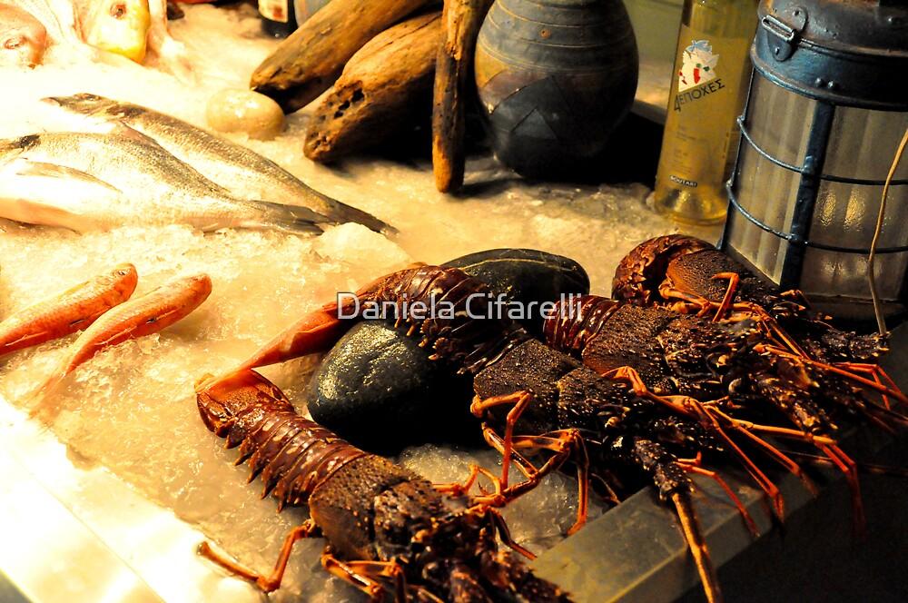 SKIATHOS - Lobsters display at a Restaurant entance by Daniela Cifarelli