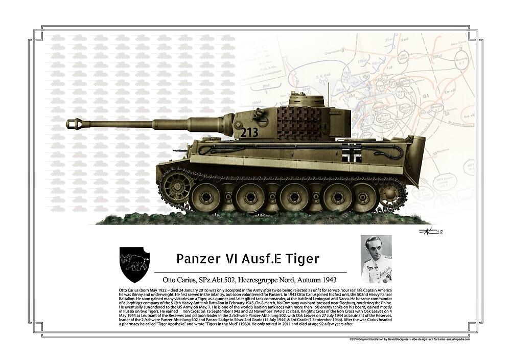 Panzer VI Ausf.E Tiger Spz Abt. 502 Otto Carius 1943 by TheCollectioner