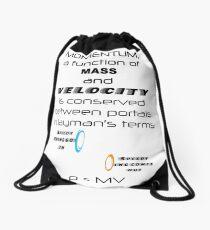 Momentum - Mass and Velocity Drawstring Bag