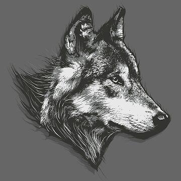 Animal Wolf Gray by Skullz23