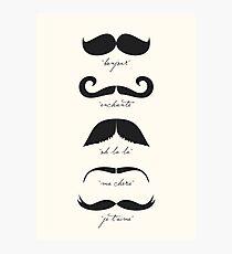 Monsieur Moustache Photographic Print