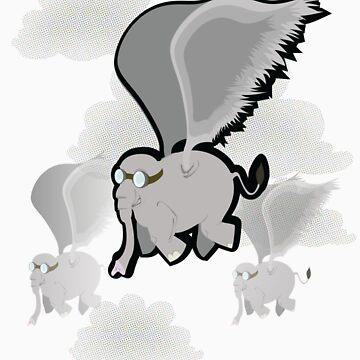 flying Elephants by pidgenhorn