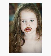 too much ice cream... Photographic Print