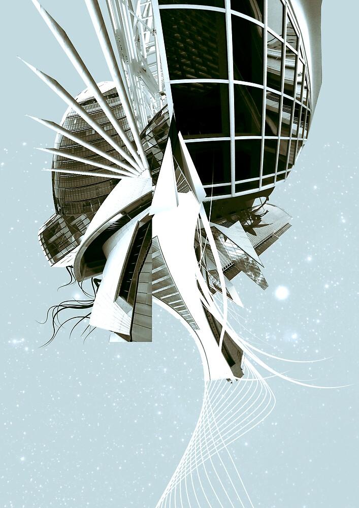 Futuristic Architectural Landscape by bechira
