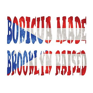 Boricua Made Brooklyn Raised Camiseta Distressed Flag Shirt and Gifts by angy2017