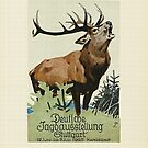 Large stag..Hunting Exhibit Ad..Stuttgart 1925 by edsimoneit