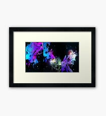 Space Worms Triptych Framed Print