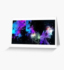 Space Worms Triptych Greeting Card
