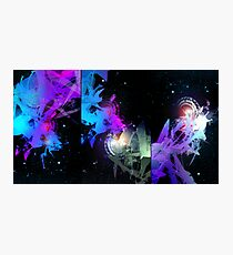 Space Worms Triptych Photographic Print