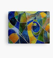 Watercolor Pen and Ink Abstract Canvas Print