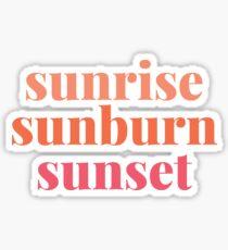 sunrise sunburn sunset Sticker