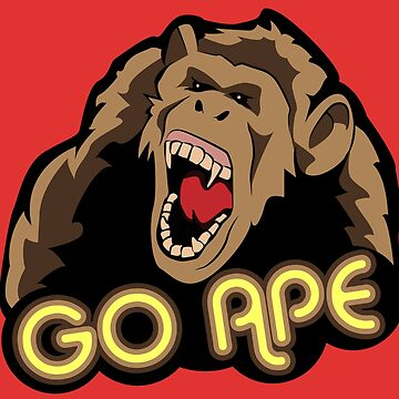 Go Ape - Angry Chimp slogan t-shirt for animal lovers by BennyBearProof