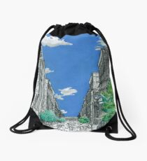 Building Colorless Cities Drawstring Bag