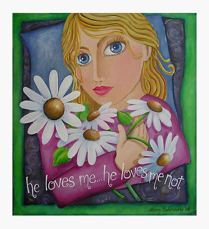 he loves me... he loves me not Photographic Print