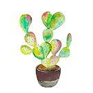 Aquarell Kaktus von hannahahkane