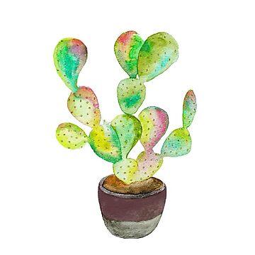 cactus acuarela de hannahahkane