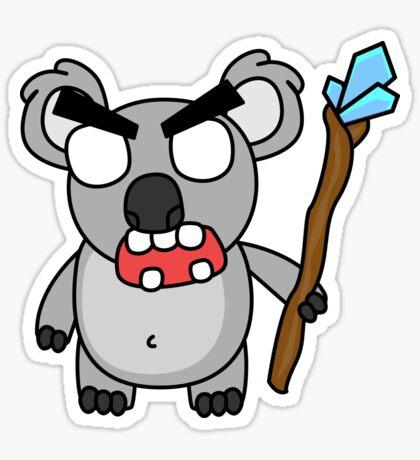 angry zombie koala Glossy Sticker