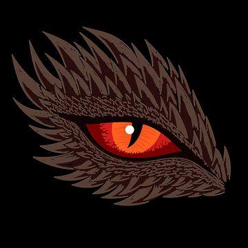 Red Fiery Dragon Eye by mrhighsky