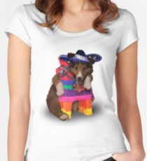 Mexican Dog Women's Fitted Scoop T-Shirt