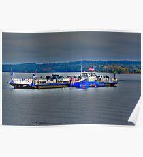 Ferry On Lake Champlain Poster