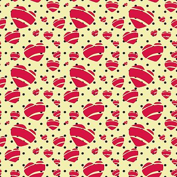 Rock a Billy Red Hearts in Polka Dots- by Jezli Pacheco by BummerGifts