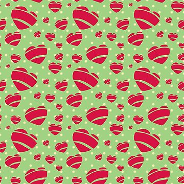 Rock a Billy Hearts in Green with Polka Dots- by Jezli Pacheco by BummerGifts